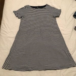 Navy and white uniqlo dress size S